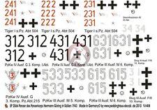 Peddinghaus 1/48 Panzer Corps HG Division Tank Markings Sicily (12 tanks) 2066