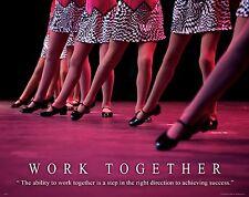Ballet Tap Dance Motivational Poster Art Print Shoes Costume Leotard MVP311