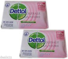 3 X 70g Dettol Anti Bacterial Bar Soap SKINCARE PINK Formula