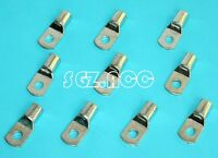 10x 2 GAUGE 2 AWG X 3/8 inch TINNED COPPER LUG BATTERY CABLE CONNECTOR TERMINAL