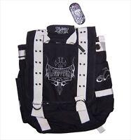 Orange County Choppers Occ Biker Black Messenger Bag Back Pack Backpack New