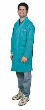 DESCO LAB COAT SMOCK ANTI-STATIC, TEAL, XS 73640