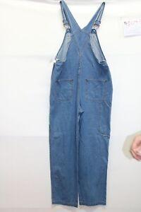 Salopette IN DUE TIME (Cod. S1093) Tg M jeans usato vintage STREETWEAR salopet