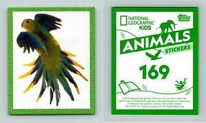 Orange-Bellier Parrot #169 National Geographic Kids Animals 2019 Topps Sticker