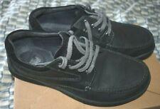 Clarks Men's Matt Black/Grey Leather Shoes. Size 8.5 G. Very good condition.