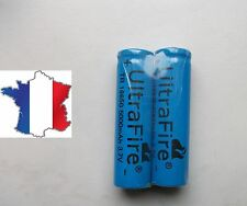 2 PILES ULTRAFIRE ACCU RECHARGEABLE 18650 3.7v 5000 mAh BATTERY