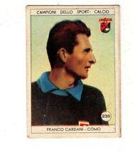 figurina LAVAZZA ANNO 1950/51 CALCIO NUMERO 235 COMO CARDANI NEW