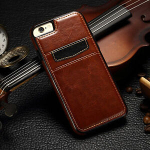 PU Wallet Leather Back Case Cover With Cash Card Slot For Apple Iphone 6 7 8Plus
