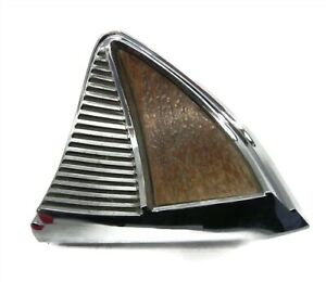1964-65-66 CHRYSLER IMPERIAL RIGHT DASH WOODGRAIN CHROME TRIM USED PART# 2492920