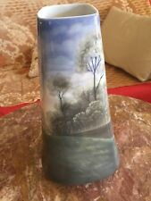 Antique Amazing Hand Painted Bohemian Bernard Bloch Vase 1900 Tall 12 Inches