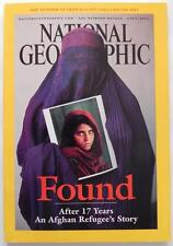 National Geographic Afghan Refugee Found Issue April 2002