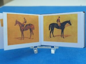1:12scale Book, Victorian Scrapbook of horses  , Crafted by Ken Blythe