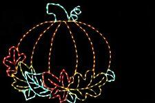 Fall Autumn Pumpkin Halloween LED metal wire frame outdoor display decoration