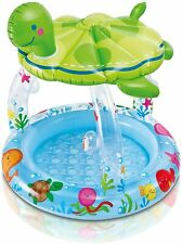 Piscina hinchable para niños bebe con toldo + accesorios intex tortuga 102x107cm