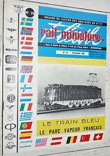 RMF RAIL MINIATURE FLASH N°24 1964 TRAINS LOCOMOTIVES / TRAIN BLEU PARC VAPEUR