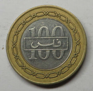 Bahrain 100 Fils AH1420-2000 Bi-Metal KM#20