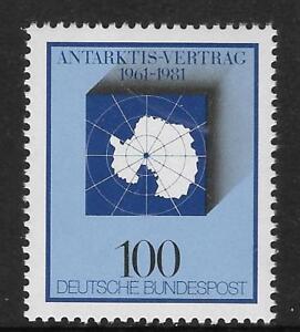 WEST GERMANY 1981 ANTARCTIC TREATY 1v Mint Never Hinged