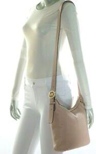 Michael Kors Fulton Large Messenger Crossbody Shoulder Leather Bag Ballet