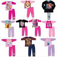 Girls Baby Shark Disney Pyjamas Long Sleeve Top & Bottoms Set Age 1 - 12 Years