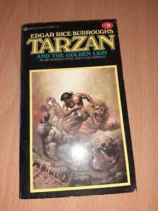 Edgar Rice Burroughs Tarzan And The Golden Lion No 9 Ballantine Books Science...