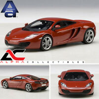 AUTOART 56008 1:43 MCLAREN MP4-12C (VOLCANO RED) SUPERCAR DIECAST MODEL CAR