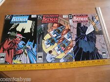 1989 Batman The Many Deaths of the comic book lot of 3 Byrne 433 434 435 VF+