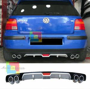 VW GOLF 4 IV 97-04 SOTTO PARAURTI POSTERIORE DIFFUSORE QUATTRO TERMINALI ABS