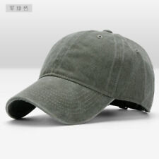 Men Plain Washed Cap Style Cotton Adjustable Baseball Cap Blank Solid Hat