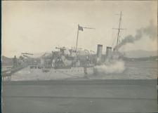 """France, Navire militaire """"Le Casque"""" , 1912, Vintage silver print Vintage silver"""