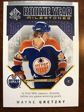 18-19 UD SP Authentic Rookie Year Milestones #RYM-WG Wayne Gretzky