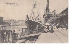 Ansichtskarte Ostpreußen  Königsberg  Hafen  An der Werfthalle  Feldpost  1915