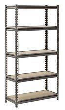 Muscle Rack 5-Shelf Heavy-Duty Steel Shelving 30 W x 12 D x 60 H Easy Assembly