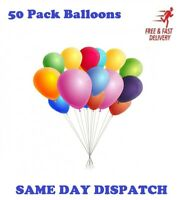 50 Pack BALLONS/ BALLOONS Quality Party Birthday Wedding