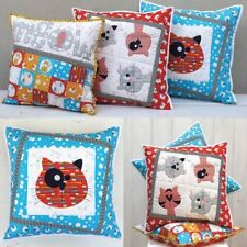 Kitty Cats Cushion PATTERN - Claire Turpin - 3 x Applique Cushion Pattern