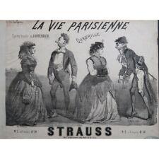 STRAUSS La Vie Parisienne Offenbach Quadrille Piano ca1866 partition sheet music