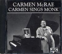 Carmen McRae : Carmen Sings Monk CD