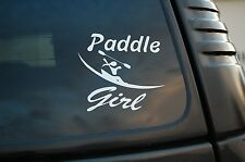 Paddle Girl Sticker Vinyl Decal Gets Me Wet Cute SUP Kayak Car Pick Size (V454)