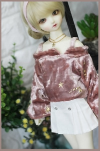1/6 1/4 1/3 SD16 BJD Outfit Doll Clothes Casual High Waist Pleated Skirt White