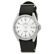 Glycine Combat 6 Vintage Silver Dial Automatic Mens Nylon Watch GL0124