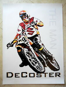 "Vintage Motocross RIDER- Roger DeCoster~THE MAN -18 x 24"" NEW Poster-Suzuki-RM"
