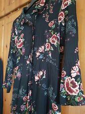 Zara m Black Floral Dress