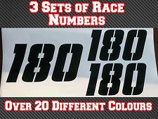"""3 conjuntos de 4"""" Números De Carrera Pegatina de vinilo pista Mx Motocross Bicicleta Kart N15 100 mm"""