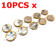 10 PCS x CR2032 3V Tabbed Lithium Coin Battery SMD (SMT) Tabs Memory Support