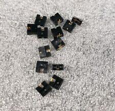 "25pcs Berg 68786-202 Low Profile Jumper Shunt .100"" 2.54mm Gold Contacts"