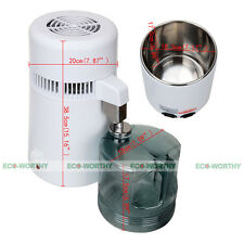 110V Water Distiller Pure Water Purifier Filter 750W Safe for Hospital Clinique