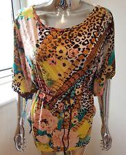 Esperance Paris Ladies Short Sleeve Top In Multi Colour Size 14/16