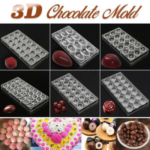 Candy Jelly Cookie Cake Mould 3D Polycarbonate Clear Chocolate Mold Tray