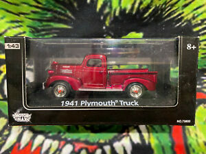 Motor Max Dream Car Collection 1941 Plymouth Truck 1/43 Scale 73800