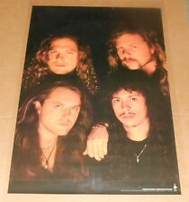 Metallica Poster Original 1991 Promo 36x24 The Black Album