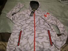 NEW Mens UNDER ARMOUR Coldgear White w/ Gray Camo COMBINE Hoodie 2XL FREE SHIP